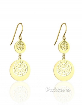 Gold-plated earrings PA0008